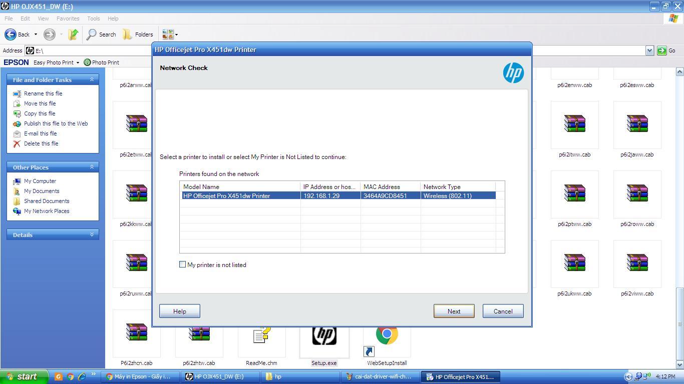Hướng dẫn cài đặt Driver Wifi cho máy in HP Officejet x45dw