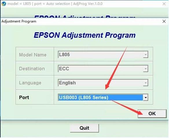 Hướng dẫn Reset couter máy in Epson L805 - Cis Bảo Tín